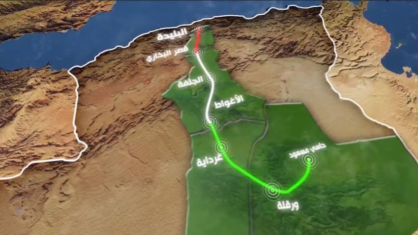 La liaison ferroviaire nord-sud de Blida à Hassi Messaoud