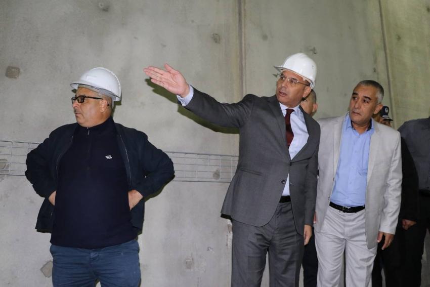 Visite de Monsieur le Ministre des Travaux Publics et des Transports, du projet de la desserte de l'aéroport Houari Boumediene